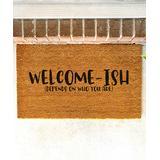 Funny Welcome Mats Door Mats Brown - Brown 'Welcome-Ish' Coir Doormat