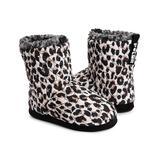 Polar by MUK LUKS Women's Slippers Leopard - Black & White Leopard Rochel Slipper Boot - Women