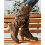 ROSY Women's Casual boots Coffee - Coffee Slouchy Knee-High Boot - Women