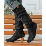 ROSY Women's Casual boots Black - Black Slouchy Knee-High Boot - Women