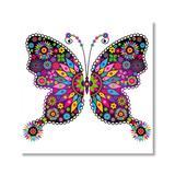 Yosunl Design Craft Kits Multi-color - Magenta & Yellow Geometric Butterfly DIY Diamond Painting Kit
