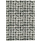 Washable Maybell Ivory/Black 5x7 - Linon Home Decor RUGWR2257