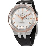 Delfin Day-date Automatic Silver Dial Watch 357rca Air - Metallic - Edox Watches