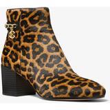 Elsa Leopard Print Calf Hair Ankle Boot - Brown - Michael Kors Boots