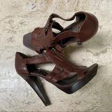 Jessica Simpson Shoes   Jessica Simpson Striket T-Strap High Heel Sandal   Color: Brown   Size: 8.5