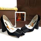 Louis Vuitton Shoes   Louis Vuitton Heels Size 8   Color: Black/Cream   Size: 8