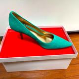 Coach Shoes   Coach Turquoise Teal Heels Pumps Suede 7.5   Color: Green   Size: 7.5