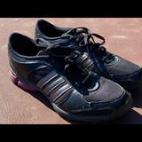Adidas Shoes | Adidas Womens 3d Cushion Black Lace Up Sneakers | Color: Black/Purple | Size: 9.5