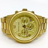 Michael Kors Accessories | Michael Kors~5055~Ladies' Gold Chronograph Watch | Color: Gold | Size: Sized For A Small Wrist