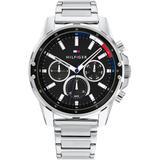 Stainless Steel Bracelet Watch 44mm - Metallic - Tommy Hilfiger Watches