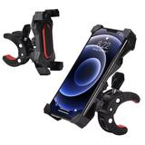 Universal Premium Quality Stylish Bicycle & Motorcycle Phone Mount Holder, Black/Red For Suede SCH-R710