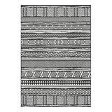 nuLOOM Indoor Rugs Black - Black Abbey Tribal Striped Indoor/Outdoor Rug