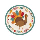 Creative Converting - Teal & Brown Turkey Paper Plates