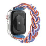 BXD Replacement Bands Blue-Multicolor - Blue & Orange Braided Nylon Band Replacement for Apple Watch