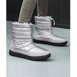 Pattrily Women's Cold Weather Boots silver - Silver Quilted Waterproof Faux Fur-Lined Ankle Boot - Women