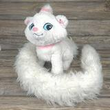 Disney Toys   Marie Aristocats Long Tail White Cat Disney Parks Plush Kitty Adorable   Color: White   Size: Small (6-14 In)