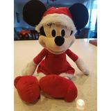 Disney Toys   Disney Minnie Mouse 16 Cute Christmas Plush Toy Stuffed Animal Holiday Gift   Color: Red/White   Size: 16