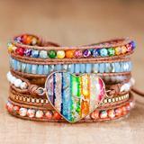 Victoria's Secret Jewelry | Chakra Romance Leather Wrap Bracelet | Color: Cream/White | Size: Os