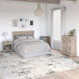 Kathy Ireland® Home By Bush Furniture River Brook Full/Queen Size Headboard, Chest Of Drawers & Nightstand Bedroom Set Wood in Brown | Wayfair