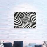East Urban Home Ambesonne Abstract Acrylic Glass Wall Art, Curve Spiral Flowing Form Contemporary Design Striped Look Print in Brown   Wayfair