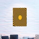 East Urban Home Ambesonne Abstract Acrylic Glass Wall Art, Bubble Bee Colors Of Whirlpool Trippy Stripes Tunnel Look Print in Brown   Wayfair