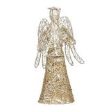 """MELODY LED Angel Christmas Tree Topper 12"""" Led Christmas Treetop For Christmas Tree Ornaments Christmas Decoration Party Favors in Yellow 