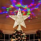 MELODY Christmas Tree Topper Lights in Gray/Yellow, Size 10.23 H x 9.84 W x 2.75 D in | Wayfair MELODY6152254