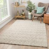 George Oliver Cepeda Oriental Hand-Loomed Wool Rainy Day/Pumice Stone Area Rug Wool in Brown/White, Size 60.0 W x 1.0 D in   Wayfair RUG138419