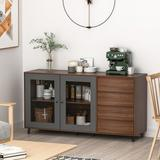 Loon Peak® Buffet Sideboard, Storage Console Table w/ 3 Drawers & 2-Door Cabinets, Buffet Server Cupboard For Kitchen, Dining Room, Living Room