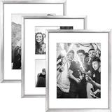 Latitude Run® 3 Pack Modern Picture Frame Collage Set For Wall Art Decor- Gallery Wall Kit Or Home Decoration Plastic in Gray | Wayfair