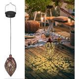 goodgou16 2 Pack Hanging Solar Lanterns, LED Hanging Solar Lights Outdoor Decorative Solar Lights Waterproof Outdoor Lanterns For Patio, Garden