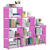 Rebrilliant Cube Storage Closet Storage Bookcase Organizer Shelving Bookshelf Clothes Storage For Home,Office,Bedroom,Home Furniture Storage in Pink