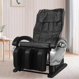 Inbox Zero Massage Chair Zero Gravity Full Body, Reclining Warm Vibration Massager Faux Leather Space Saving Movable Wheels Fully Assembled Silver