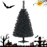 The Holiday Aisle® 3 Ft Un-lit Halloween Tree Artificial Tabletop Christmas Tree in Black, Size 36.0 H x 17.5 W in   Wayfair
