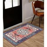 Bungalow Rose Persian Oriental Area Rug Runner Formal Traditional Rugs Distressed Vintage Accent Farmhouse Throw Rug Non Slip Print Floor Carpet For Bedrooms Li