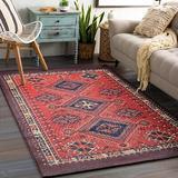 Union Rustic Vintage Turkish Small Area Rug Persian Oriental Tribal Cotton Throw Rugs w/ Non-Slip Pad in Orange, Size 36.0 W x 0.1 D in | Wayfair