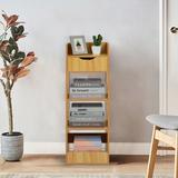 Latitude Run® Simpleness Floor Bay Window Shelf Creative Bookshelf Bookcase Free Combination Wood in Yellow, Size 35.4 H x 40.9 W x 13.2 D in