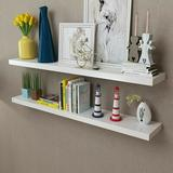 Latitude Run® 2PCS DIY Wooden Wall Shelves Rack Wall Mounted Storage Display Rack Home Decor, Size 0.5 H x 5.9 W x 23.6 D in   Wayfair