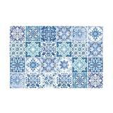 Walplus WT1587X3 - Turkish Mediterranean Wall Tiles Sticker Set - 15Cm (6In) - 72 Pcs Vinyl/PVC in Blue, Size 5.91 H x 5.91 W x 0.01 D in | Wayfair