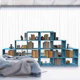 Rebrilliant Cube Storage Closet Storage Bookcase Organizer Shelving Bookshelf Clothes Storage For Home,Office,Bedroom,Home Furniture Storage in Blue