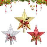The Holiday Aisle® Christmas Tree Star Topper Ornaments,Plastic Festival Tree Top Pendant,Xmas Home Party Pentagram Decoration,3PCS | Wayfair