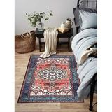 Bungalow Rose Red Persian Oriental Area Rug Runner Formal Traditional Rugs Distressed Vintage Accent Farmhouse Throw Rug Non Slip Print Floor Carpet For Bedrooms Li