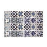 Walplus WT1584X2 - Malaga Spanish Wall Tile Sticker Set - 15Cm (6In) - 48 Pcs Vinyl/PVC in Blue, Size 5.91 H x 5.91 W x 0.01 D in | Wayfair