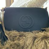 Gucci Bags | Mint Gucci 536224 Soho Leather Crossbody Bag Black | Color: Black | Size: Os