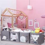 Zoomie Kids Storage Cubes Storage Binsfoldable Storage Baskets Boxes For Shelf, Clothes, Toys, Books, Kids, Nursery, Office in Gray | Wayfair