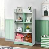 "Ebern Designs 23.4""D X 9.36""W X 42.11""H Bookshelf Storage in Green, Size 42.18 H x 23.48 W x 9.31 D in | Wayfair B8B29E58684C4293A13F26E79BEB3A12"