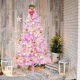The Holiday Aisle® Christmas Tree in Pink/White, Size 8.0 H x 25.0 W in   Wayfair 7CD2EE2B7F3041958C9E472B568848EA