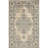 Charlton Home® Oriental Beige Area Rug Polypropylene in White, Size 96.0 W x 0.31 D in   Wayfair 50422FFC4E7142D281E13EBB263C65E9