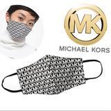Michael Kors Accessories   Michael Kors Logo Stretch Cotton Face Mask   Color: Black/White   Size: Small Medium