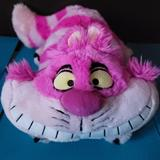 Disney Other | (Disney) Cheshire Cat Exclusive Plush Figure | Color: Pink | Size: Length: 18in Width: 9in Height: 9in